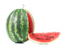 Sliced ripe watermelon Stock Photo