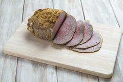 Sliced roast beef Royalty Free Stock Photo