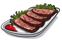 Sliced roast beef Royalty Free Stock Photography