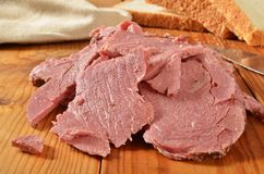Sliced roast beef Stock Image