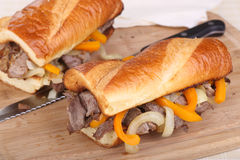 Sliced Roast Beef Sandwich Royalty Free Stock Images