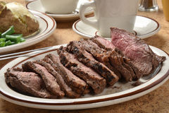 Sliced roast beef sirloin Royalty Free Stock Photos