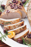 Sliced Roast Pork Tenderloin Royalty Free Stock Images