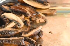Sliced roasted portobelo mushrooms Stock Photography