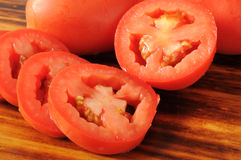 Sliced Roma Tomatoes Stock Photo