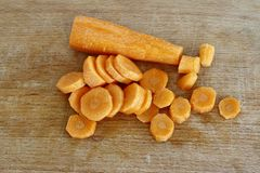 Sliced Root Vegetable - Carrot Royalty Free Stock Photos