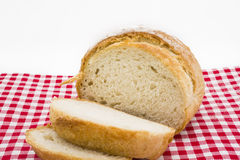 Sliced of round bread Stock Photo