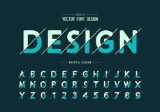 Sliced round font and alphabet vector, Design typeface and number, Graphic text on background. Sliced round font and alphabet vector, Design typeface and number stock illustration