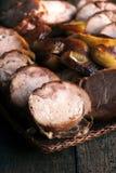 Sliced rullade fegt kött Arkivbilder