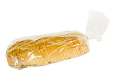 Sliced Rustic French Bread In Plastic Bag Royalty Free Stock Photography