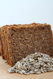 Sliced Rye bread. Healthy sliced rye bread with sunflower seeds Royalty Free Stock Photography