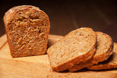 Sliced rye bread on the board Stock Images