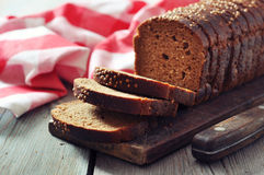 Sliced rye bread Royalty Free Stock Images