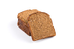Sliced of rye bread. Isolated on white background stock photo