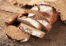 Sliced rye bread on the table Stock Photos