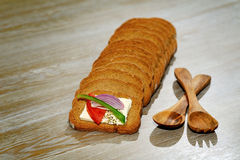 Sliced rye bread Stock Photos