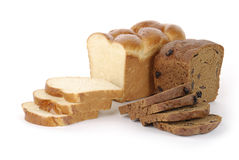 Sliced rye and wteat bread Stock Photo