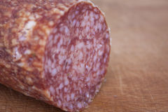 Sliced salami Royalty Free Stock Image