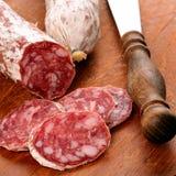 Sliced Salami Stock Photos
