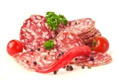 Sliced salami Stock Image