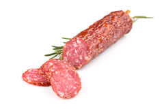 Sliced salami Stock Photography