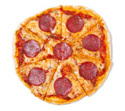 Free Sliced Salami Pizza Stock Photo - 7870220