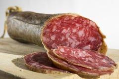 Sliced Salami sausage Royalty Free Stock Image
