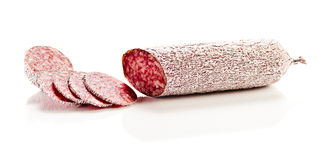Sliced salami Royalty Free Stock Photos