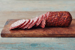 Sliced salami Royalty Free Stock Photography