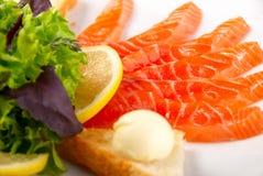 Sliced salmon Royalty Free Stock Photo