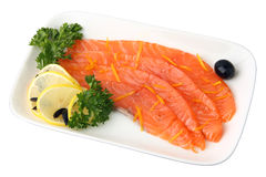 Sliced ??Salmon Stock Image