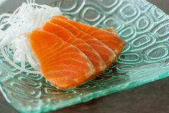 Sliced salmon Stock Photos