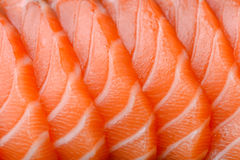 Sliced salmon Royalty Free Stock Photography