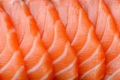 Sliced salmon. Close up fresh sliced salmon Royalty Free Stock Photography
