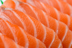 Sliced salmon Royalty Free Stock Photo