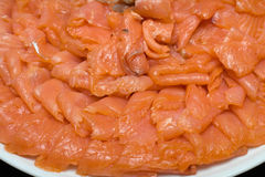 Sliced salmon fillet Stock Photography