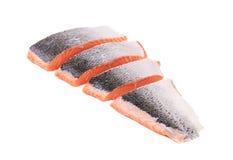 Sliced salmon fish. Royalty Free Stock Image