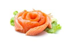 Sliced salmon isolated on white background. Sliced salmon on white background Royalty Free Stock Image