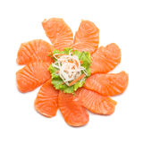 Sliced salmon isolated on white background. Sliced salmon cycle isolated on white background Royalty Free Stock Photography