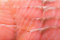 Sliced salmon salt closeup background Royalty Free Stock Photo