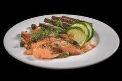 Sliced salmon Royalty Free Stock Photos