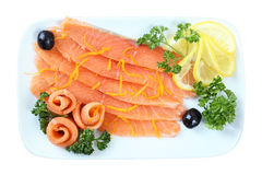 Sliced Salmon Stock Photography