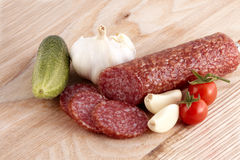 Sliced sausage Royalty Free Stock Photo