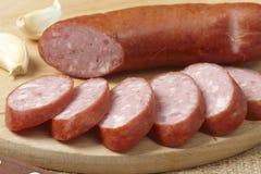 Sliced sausage Stock Photos