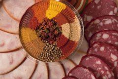 Sliced sausage Royalty Free Stock Image