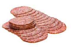 Sliced sausage. Royalty Free Stock Image