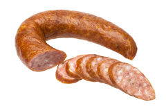 Sliced sausage. Royalty Free Stock Images