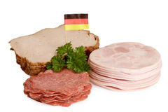Sliced sausage Royalty Free Stock Photos