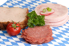 Sliced sausage Stock Image