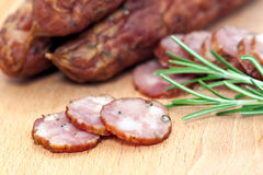 Sliced Sausages Royalty Free Stock Photo
